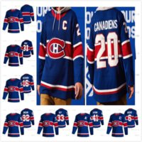 Custom Montreal Canadiens 2020-21 Reverse Retro 31 Carey Preço 11 Brendan Gallagher 14 Nick Suzuki Kotkaniemi De S-6XL Gelo Hóquei Jerseys