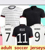 2021 Германия Футбол Джерси Национальная команда Мужчина Gnarbry Werner Havertz Рубашка Deutscher Sane Kroos Reus футбольные футболки 20/21
