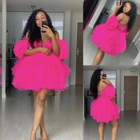 2021 Short Puffy Homecoming Dresses Sweetheart Off Shoulder Cocktail Dress Sexy Backless Club Women Party Wear