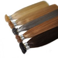 Top Quality Prebonded inHair Grade 8A Hair Extensions Italian Keratin Flat Tip in HairExtension, 1g s & 200s Lot, free DHL