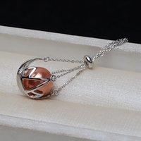 S925 Silber Runde Anhänger Bodenkette Weibliche Halskette 12-14 Käfig Nicht perlatierte Perle leerer Unterstützung DIY Zubehör 3242