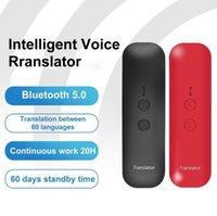 Walkie Talkie Bluetooth 5.0 Connexion rapide Rechargeable Mini Traducteur intelligent multilingue de voix portable pour une réunion d'affaires à l'étranger