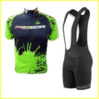 Uomini Merida Team Cycling Jersey Bib Shorts Set Tour de France Abbigliamento per biciclette Estate Abbigliamento Ambientazione esterna Abbigliamento sportivo all'aperto 41508