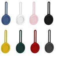 Weiche Silikon-Abdeckungsfälle für Airtag Anti-verlorene Schutzhaut-Schutzhaut Anti-Scratch-Wireless-Tracker-Finder-Schleifenschutz FWF6730