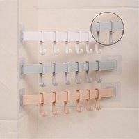 Kitchen Storage & Organization 2021 5 Hooks Over Door Clothing Hanger Rack Cabinet Loop Holder Shelf For Home Bathroom Sale