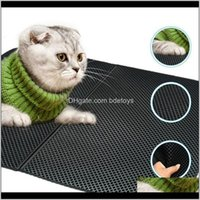 Beds Furniture Supplies Home & Gardencat Waterproof Eva Double Layer Folden Cat Litter Mat Trapping Pet Box Mats Pad For Cats Aessories Drop