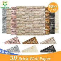 Wallpapers 3D Wallpaper DIY Brick Stone Pattern Self-Adhesive Waterproof Wall Stickers Kitchen Backsplash Bathroom Tile