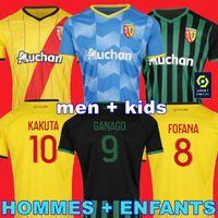 Maillot Lens RC Futbol Formaları 21 22 Kakuta Ganago Sotoca Fofana Gradit Fortes Banza Cahuzac Dooure 2021 2022 RC Lens Futbol Gömlek Erkekler Kids Kits Ekipmanları Ev