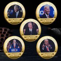 Artigianato in argento placcato oro Joe Biden Coin US Presidential Election Elezione da collezione monete America Presidente Biden monete commemorative monete artigianato ZC191