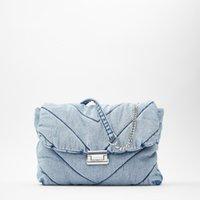 Lüks Tasarımcılar Vintage Mavi Denim Kadınlar Omuz Çantaları Tasarımcı Kot Çanta Lüks Zincirler Crossbody Çanta Büyük KapasiteliTerler Kadın
