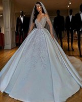 Other Wedding Dresses 2021 Dubai Arabic Ball Gown Plus Size Sweetheart Backless Sweep Train Bridal Gowns Bling Luxury Beading Sequins