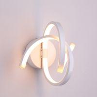 Luces LED MODERNA MODERNA SIMPLE SPIRAL WALL COLOR LED de techo interior para la barra KTV Corredor Lámpara decorativa