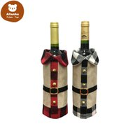 Anjule Creative Cartoon Christmas Gift Wine Bottle Cover Bags Decorations For Party Dinner Table Decoration re