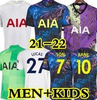 21 22 Kane Son Bergwijn Ndombele Soccer Jerseys 2021 2022 Dele Jersey Football Shirt Lo Celso Morgan Bale Lamela 4th Men + Kids