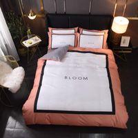 Capa de cama de casas simples Cama de cama Fronha de algodão de luxo 4 pcs sets queen size edredom capas