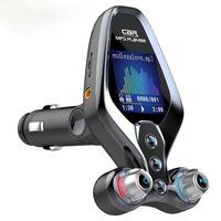 Handsfree Автомобиль Bluetooth 5.0 FM-передатчик с красочным дисплеем Один ключ Включение / выключение EQ Meame MP3 Музыкальный проигрыватель QC3.0 Быстрое зарядное устройство