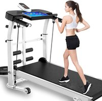 Treadmill, professional mechanical LCD screen treadmill, with tablet holder, up to 150 kg, multifunctional household foldable treadmill
