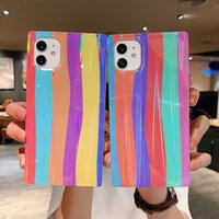 Luxury Square Rainbow Laser Hyun Color Phone Cases Soft Silicone Cover Shockproof For iPhone 11 12 13 Pro Max X XR Xs 8 7 Plus