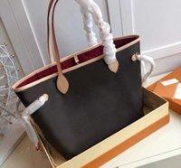 Bolsa de mulher desenhista bolsas de bolsas clássicas flor marrom com sacos originais Número de serial bolsa grande pacote de compras ombro 00