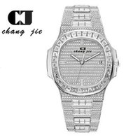 CJ 고급 패션 캘린더 다이아몬드 남성 시계 팔찌 스타 럭셔리 스퀘어