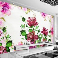 Wallpapers Custom 3D Mural Wallpaper Hand Painted Flowers Oil Painting Pastoral Living Room Bedroom Dining Wall Decor Papel De Parede
