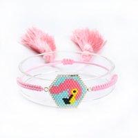 Link, Chain Flamingo Hand Weaving Crystal Fringed Women's Bracelet