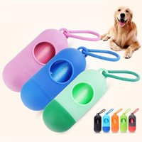 Pet Dog Toy Dispenser POOP BAG Set Set di sacchetti di immondizia Portatore Portatore Strumenti di pulizia dei rifiuti per animali domestici per forniture per animali domestici all'aperto DHL
