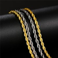 Silver Color Gold Color Stainless Steel Chain For Jewelry Making 3mm Width Metal Twist Bulk Cadenas 60cm Wholesale 10pcs Chains