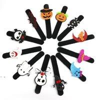 Halloween Slap Bransoletka Party Decoration Bat Dynia Ghost Shape Series Clap Plush Pat Ręcznie Koło Zabawki Bransoletka OWB9104