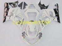 Injetion Fairing kits for SUZUKI GSXR600 750 Cowling GSXR600 Bodywork GSXR 600 Fairings kit Black Ivory White GSXR 750 K1 K2 K3 01 02 03 Bodywork 2001 2002 2003