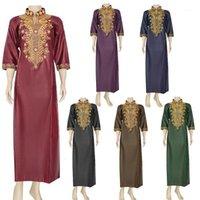 Abaya African Robe Batik Tissu Ramadan Vêtements Ramadan Broderie Jibab Jibab Robe Musulman Islamic Galabia pour Femme26111