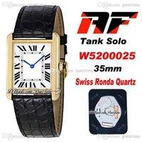 AF SOLO W520025 Swiss Ronda Quartz Unisex Mens Wamens Watch 18k Amarillo Oro Blanco Dial Black Roma Blue Hands Cuero Super Edition Wathces 2021 Puretime F6