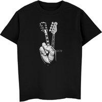 Erkek Tee Hipster Bas Gömlek Yazıcı erkek T-shirt Pamuk O-Boyun Kısa Kollu Parmak Gitar T Shirt Hip Hop Tees Tops StreetWearchildren's C