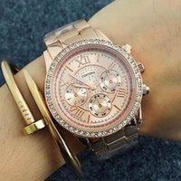 Articoli di vendita più venduti 2021 Contena Luxury Gold Gold Gold Watches Guards Full Steel Diamond Fashion Women's Altremzo da donna