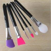 Новые силиконовые кисти для макияжа 6 шт. Профессиональные кисти для макияжа Косметические инструменты Комплект для фундамента Лицевая пудра грязевая маска оптом 3001075