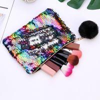 21cmx16cm Реверсивные блестки Mermaid Glitter составляют сумку сумка мода сумка леди косметические сумки вечерняя сцепление LLA694 17 R2
