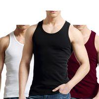 2 PCS Lot Tank Men 100% Solid Vest Male Breathable Sleeveless Tops Slim Casual Undershirt Mens Gift