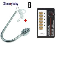 Stainless Steel Electro shock Anal Plug Electric shocking Butt Plug Unisex Plug Auns Tens Sex Toys for Adult Game X0728