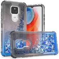 Phone Cases For Motorola One 5G Ace G Power Fast Stylus Play E 2020 2021 Liquid Bling Quicksand Shockproof Bumper Protective Cover