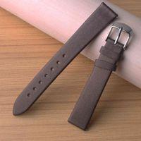 Watchbands Strap Silk grain Bands Bottom Cow Leather Fashion Quartz Brown Accessories for Dress Watches Women 16mm 18mm 20mm