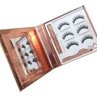 Magnetic Eyelashes 3D Mink Eyelashe Waterproof Liquid Lash Tool Lasting False Handmade Box Makeup Logo Gold Custom Short Ey J9R51
