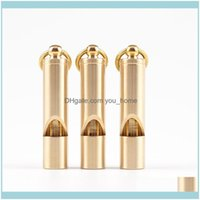 Favor Event Festive Supplies Home & Gardenhandmade Vintage Pure Party Gift Camping Outdoor Water Sport Rescue Survival Brass Whistle Drop De