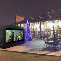 12-36FT 16: 9 Hot-Salling надувной экран фильма открытый экран телевизора фильма для пар перла для вечеринки событий с заводской ценой
