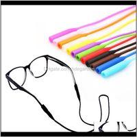 Eyewear Moda Aessórios Drop Entrega 2021 1 PCS Ajustável Elastic Elastic Óculos Cortações Sunglasses Correntes Esportes Anti-Slip String Copo