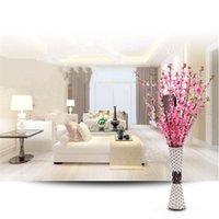 Dekoratif Çiçekler Çelenk 120 cm Yapay Simülasyon Şeftali Çiçeği Ağacı Dalları Ev El Oturma Odası Dekor DIY Düğün Dekorasyon