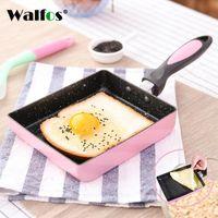 Pans Walfos сковорода тамагояки Omelette Black Non-Stick Fry яйцо блинчик кухонный горшок использование для газовой плиты