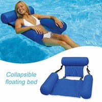 Swimming Floating Chair Foldable Pool Seats Inflatable Bed L...
