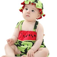 Sling Jumpsuit Hat Sets Cute Clothes Set Baby Kids Clothing Summer Boys And Girls Children's Baby Cotton Suspenders Watermelon Tiger Tracksuit G60R51I