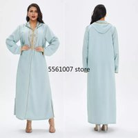 Ethnic Clothing Abaya Muslim Dress Pajamas Women Fashion Casual Long Skirts Embroidery Large Dresses Plus Size African Middle Eastern Robe 2