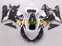 Injecion ABS Motorcycle Free Custom Cowling Fairings kit for SUZUKI GSXR600 Ivory White Black *&DJYTGSXR 600 750 Bodywork 2001 2002 2003 Fairing kits 01 02 03 Body kits